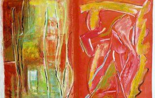 Anne François 2003 - Peinture de vitesse, et peinture de fond.