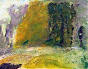 Jeanne Aguilé-Latil 2004, bosquet, peinture et collage.