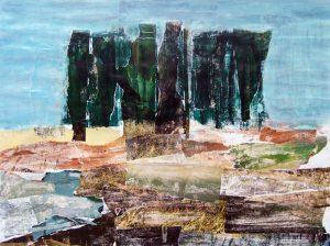 Philippe Touati 2004, bosquet, peinture et collage.