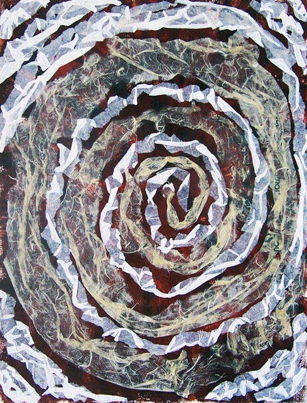 Catherine Fahy 2003 - Acrylique et collage sur papier.