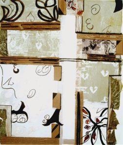 Marinette Le Hen 2003 - Plan du musée - peinture acrylique et collage