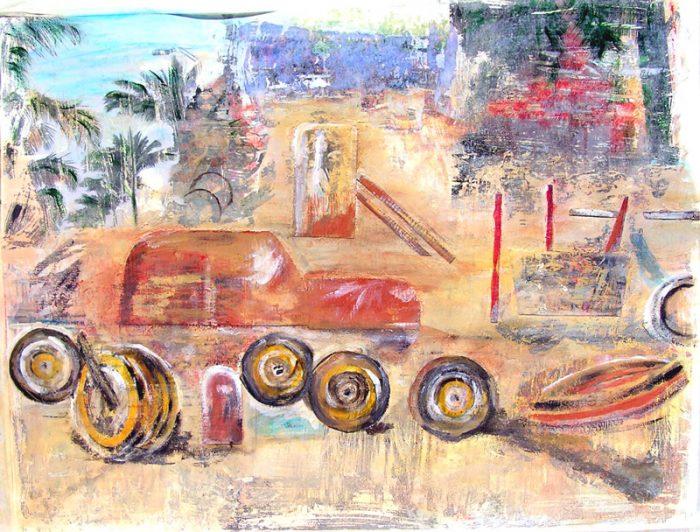 Annick Gauthier 2006 - Nature morte, casse auto.