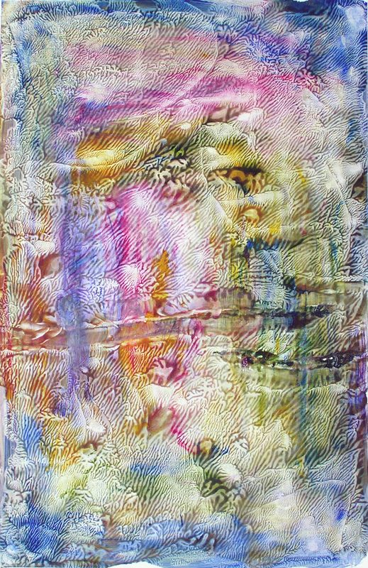 Catherine Solier 2007 - Peinture île, peintre explorateur -Cartographie imaginaire - Acrylique et collage