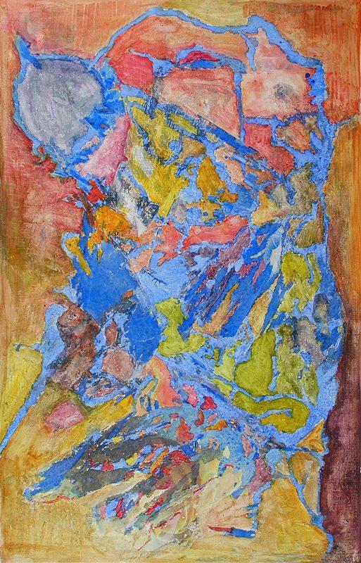 Eliane Le Roux 2007 - Peinture île, peintre explorateur -Cartographie imaginaire - Acrylique et collage