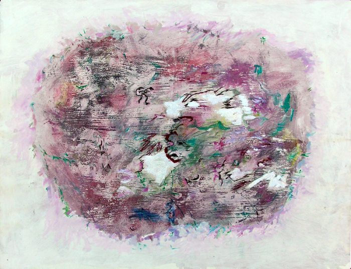 Martine Smagghe 2007 - Peinture île, peintre explorateur -Cartographie imaginaire - Acrylique et collage