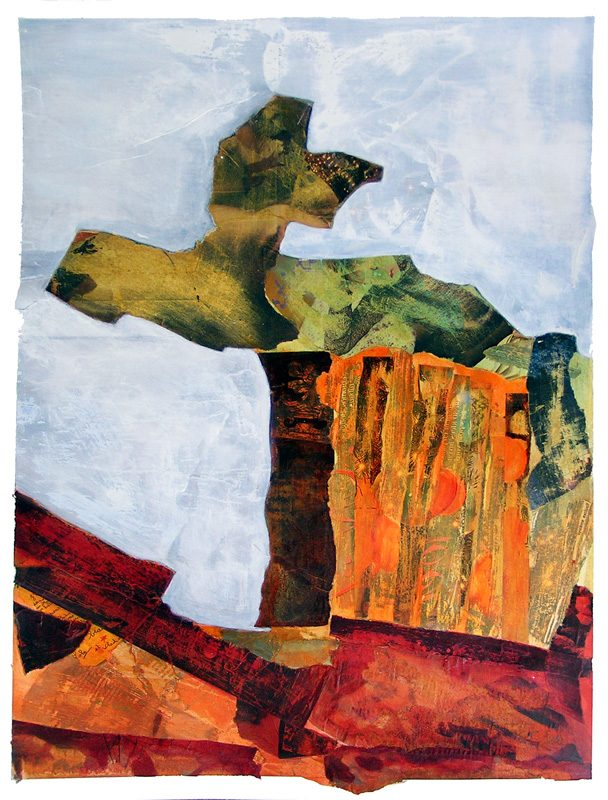 Nathalie Josse  2007 - Peinture île, peintre explorateur -Cartographie imaginaire - Acrylique et collage