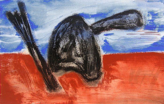 Catherine Turpin - 2007 - Objets insaisissables - Nature morte - Acrylique d'après un collage