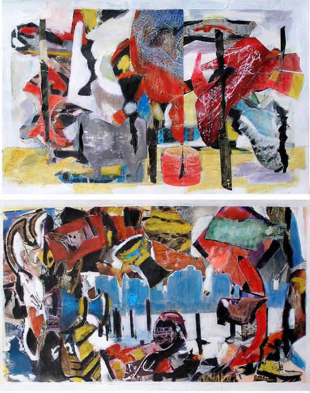 Gisèle Dubois - 2007 - Objets insaisissables - Nature morte - Acrylique et collage