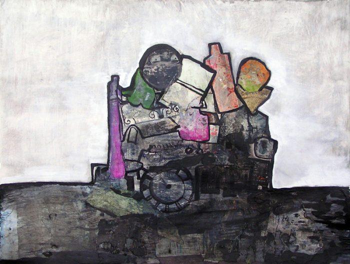Jocelyne Colas - 2007 - Objets insaisissables - Nature morte - Acrylique et collage