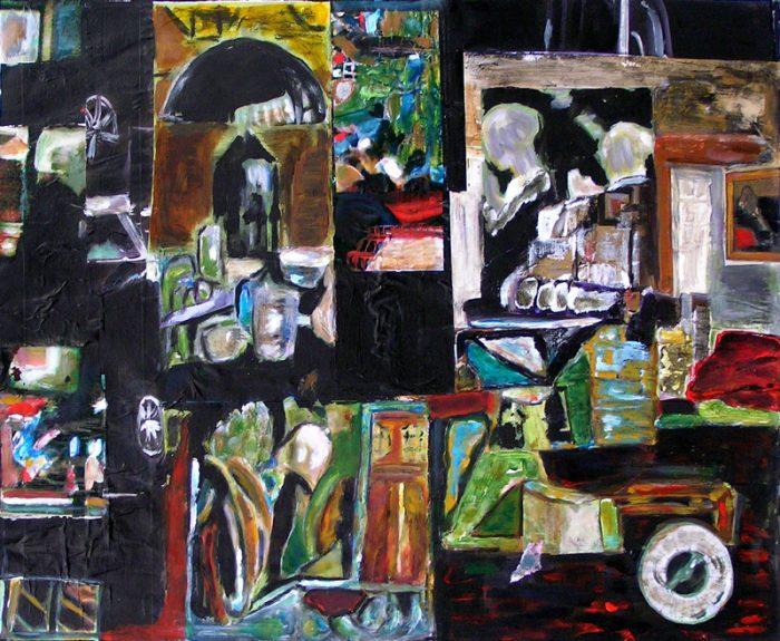 Madeleine Gautier-Brun - 2007 - Objets insaisissables - Nature morte - Acrylique et collage