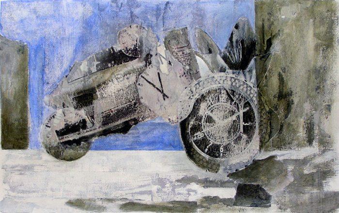 Sandra Gourier - 2007 - Objets insaisissables - Nature morte - Acrylique et collage
