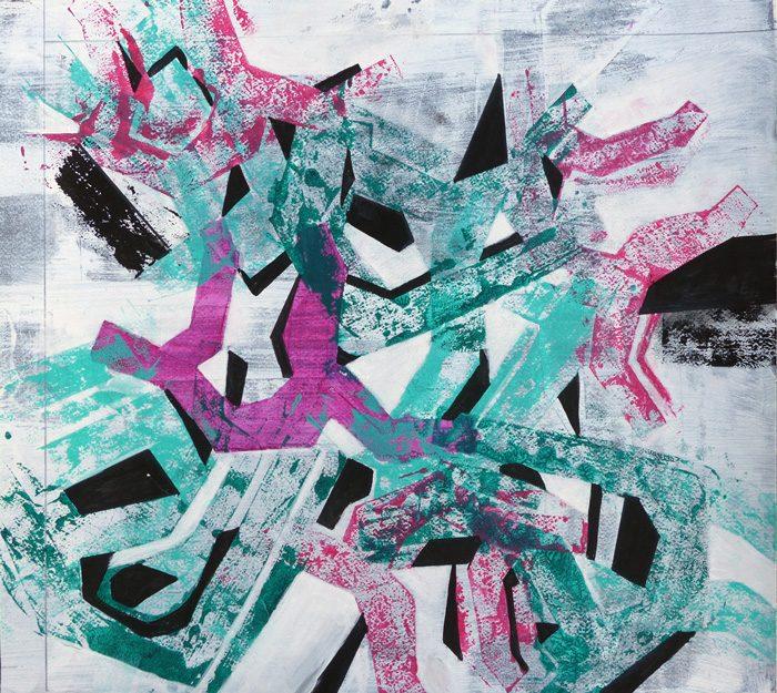 Jacqueline Putatti 2017 - Signes, caches, pochoirs.