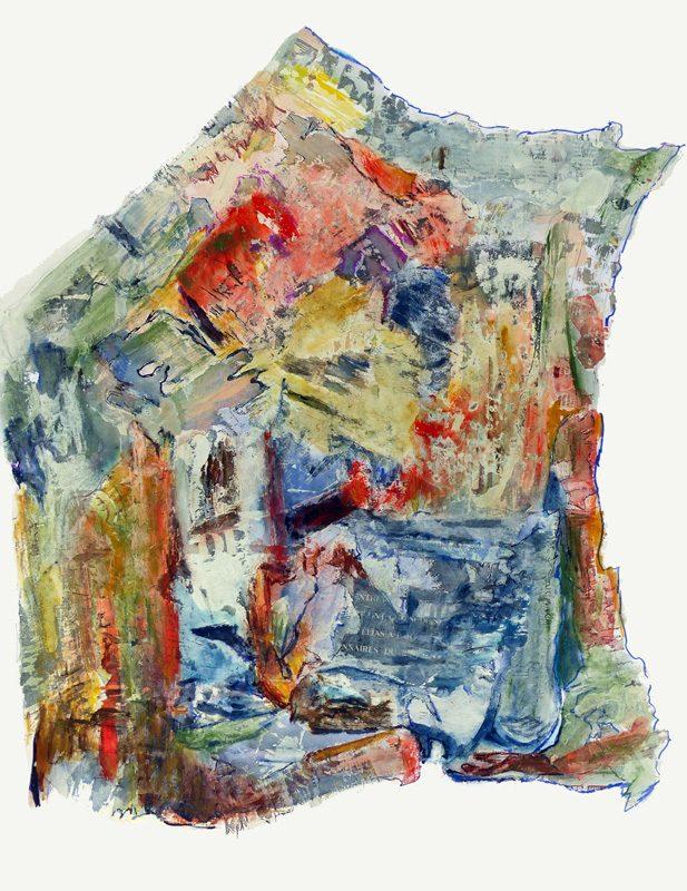 Madeleine Gautier-Brun 2017 - Cartographie imaginaire - acrylique et collage