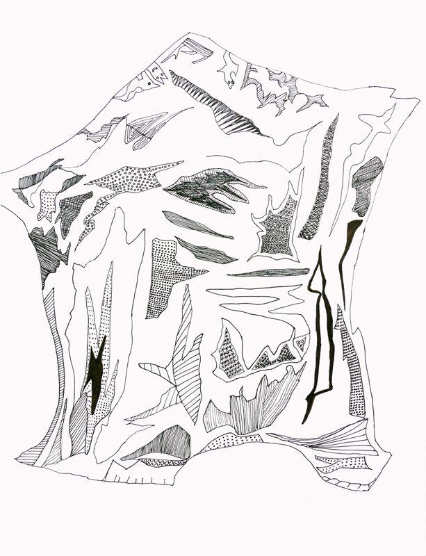 Madeleine Gautier-Brun 2017 - Cartographie imaginaire - dessin au trait