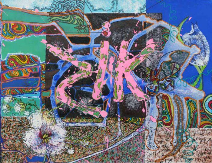 Marie Kresser-Verbois 2016 - Peinture et collage, aller-retour