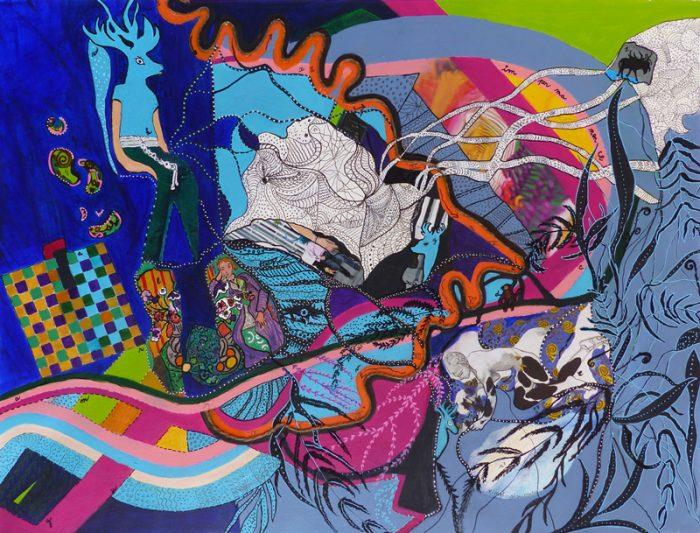 Mireille Vincent 2017 - Peinture en neuf mois, réalisée de septembre 2016 à juin 2017