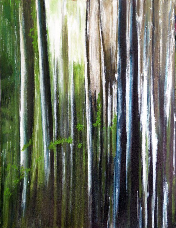 Yolande Bernard 2017 - Lumière et forêt (I)