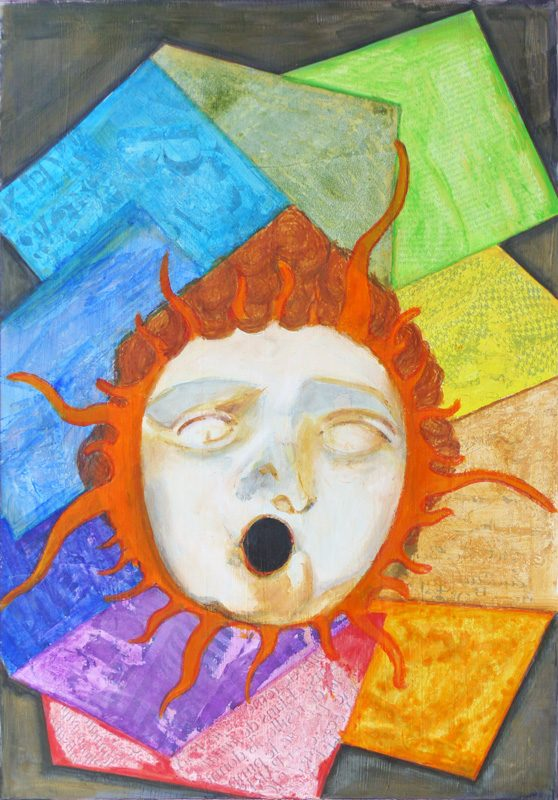 Yolande Bernard 2017 - Gorgone - Peinture acrylique sur papier
