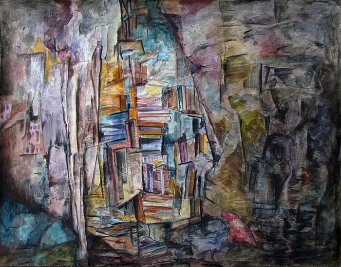 Ladin Sabras 2012 - Bibliothèque dans une caverne