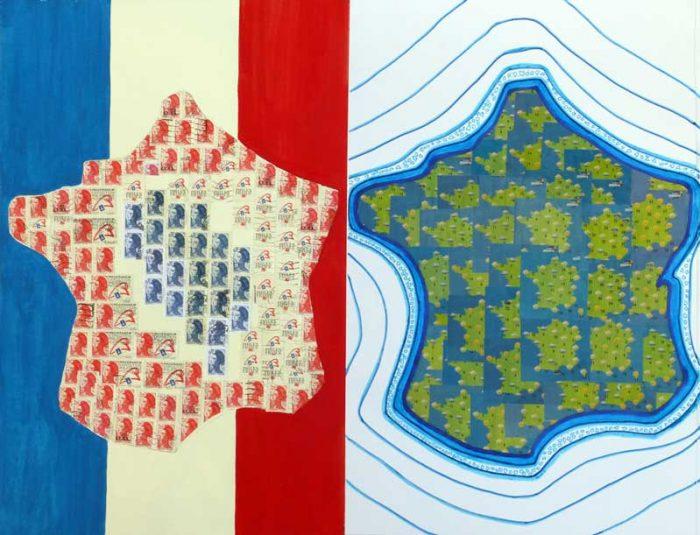 Yolande Bernard 2017 - Variations autour de la carte de France 7 & 8
