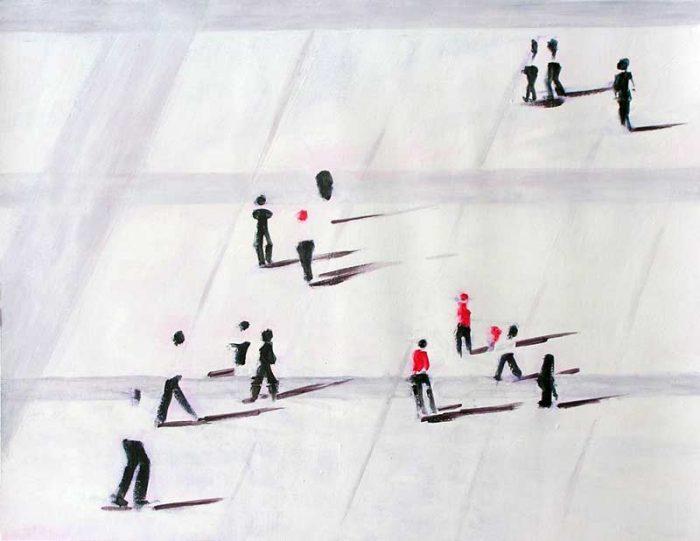 Catherine Solier 2006 - De passage en biais sur l'Esplanade de La Défense