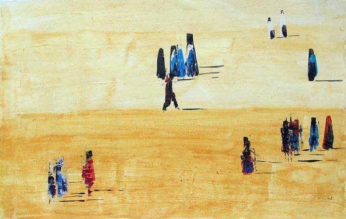 Christiane Bour 2006 - De passage en biais sur l'Esplanade de La Défense (I)