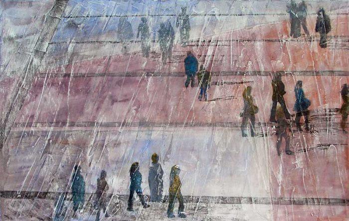 Christiane Bour 2006 - De passage en biais sur l'Esplanade de La Défense (II)
