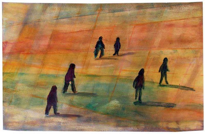 Gisèle Dubois 2006 - De passage en biais sur l'Esplanade de La Défense