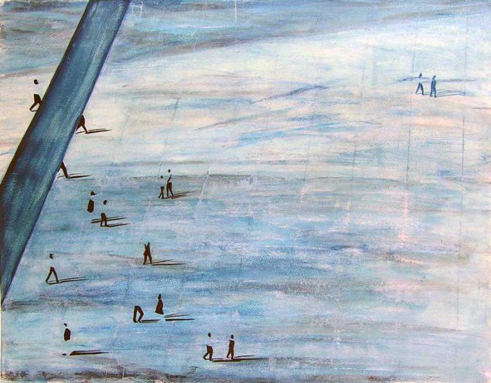 Martine Lucy 2006 - De passage en biais sur l'Esplanade de La Défense (II)