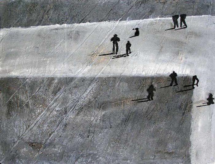 Régine Labouré 2006 - De passage en biais sur l'Esplanade de La Défense