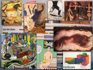 Lascaux, Rebeyrolle, Blais, Lam, Kitaj, Lichtenstein, Fautrier, Raysse, et en arrière-plan, Closky.
