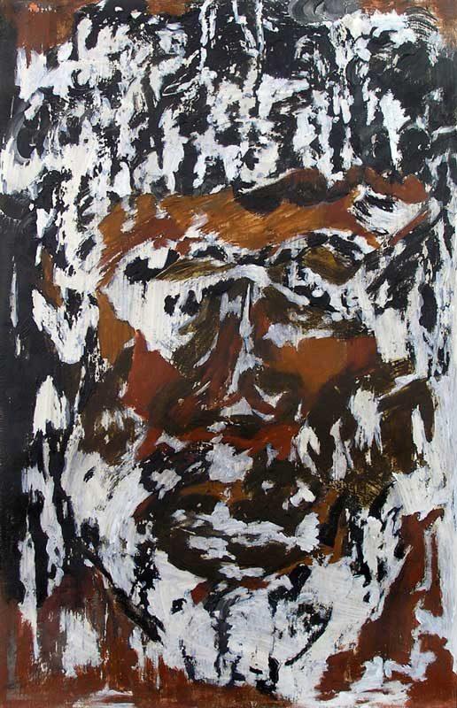 Andrée Job-Querzola 2008 - Portrait - Acrylique sur papier