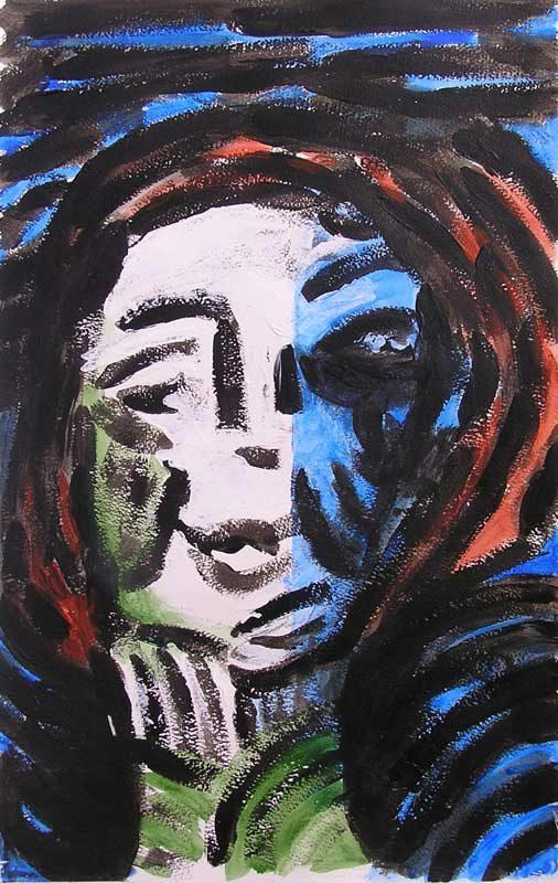 Christiane Bour 2008 - Portraits - Acrylique sur papier