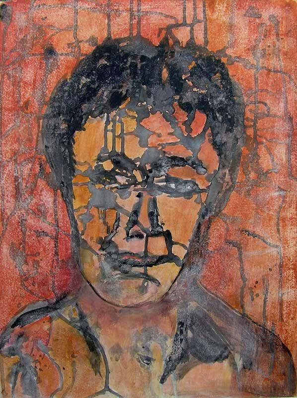 Geneviève Buchon 2008 -  - Portrait - Acrylique sur papier