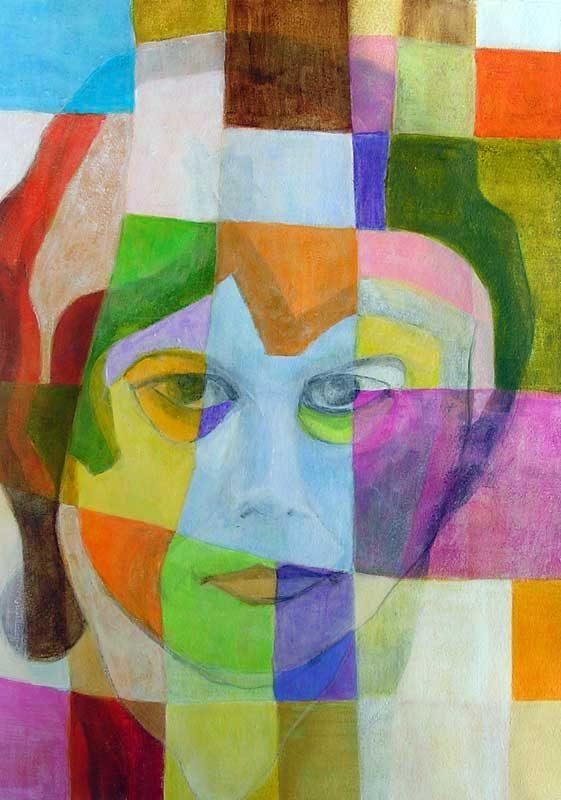 Isabelle Bisson 2008 - Portrait - Acrylique sur papier