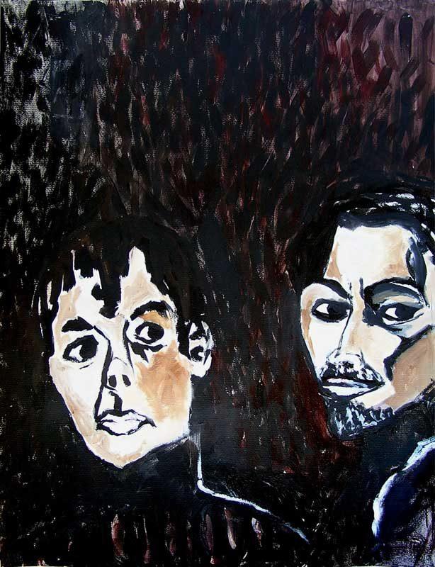 Stéphanie Faivre 2008 - Portraits - Acrylique sur papier