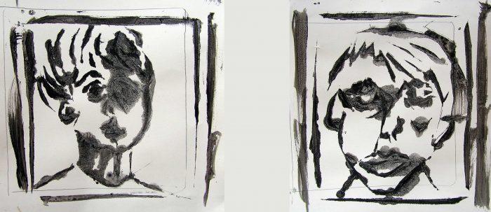 Stéphanie Faivre 2008 - Acrylique sur papier avec pochoir et lavis