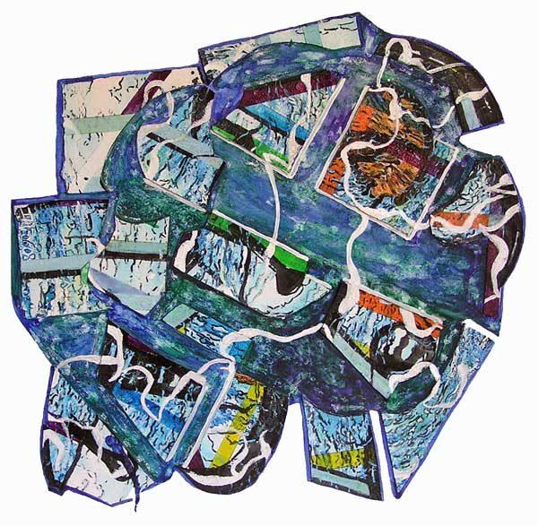 Danielle Reissner 2008 - Composition à l'acrylique à base de collages (IV)