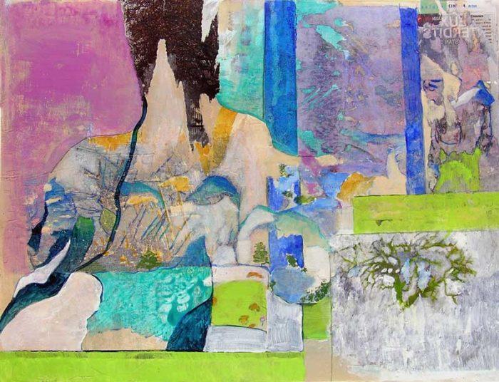 Elisabeth Lesage 2008 - Composition à l'acrylique à base de collages