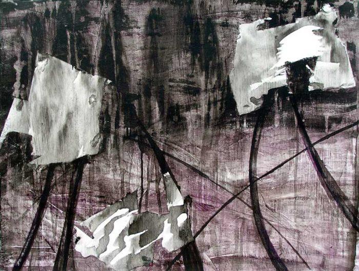 Kati Kukkasniemi 2008 - Composition à l'acrylique d'après un collage (I)