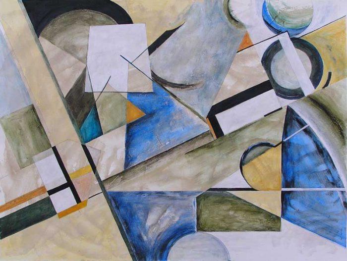 Martine Lucy 2008 - Composition à l'acrylique  d'après un collage (II)