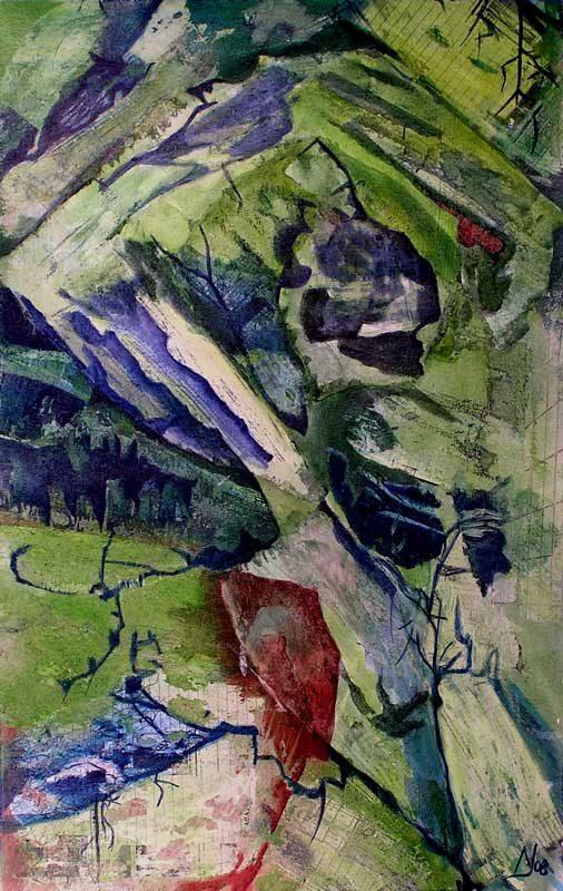 Nathalie Josse 2008 - Composition à l'acrylique sur transferts (I)
