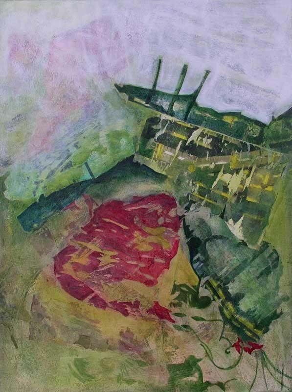 Nathalie Josse 2008 - Composition à l'acrylique sur transferts (II)