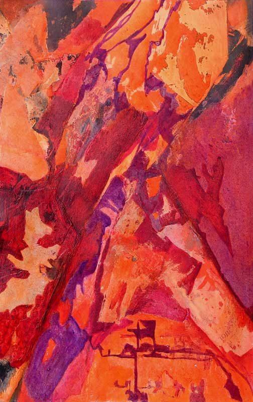 Nathalie Josse 2008 - Composition à l'acrylique sur transferts (III)