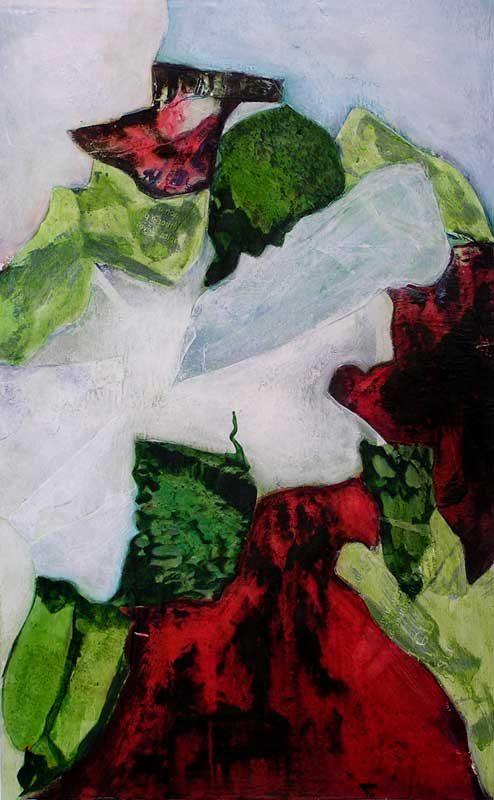Nathalie Josse 2008 - Composition à l'acrylique sur transferts (IV)