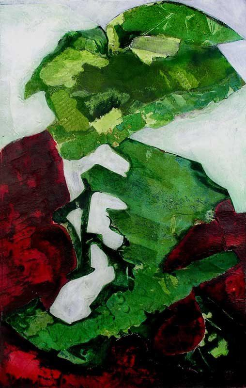 Nathalie Josse 2008 - Composition à l'acrylique sur transferts (V)