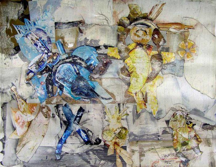 Philippe Touati 2008 - Composition à base de papier collé et poncé