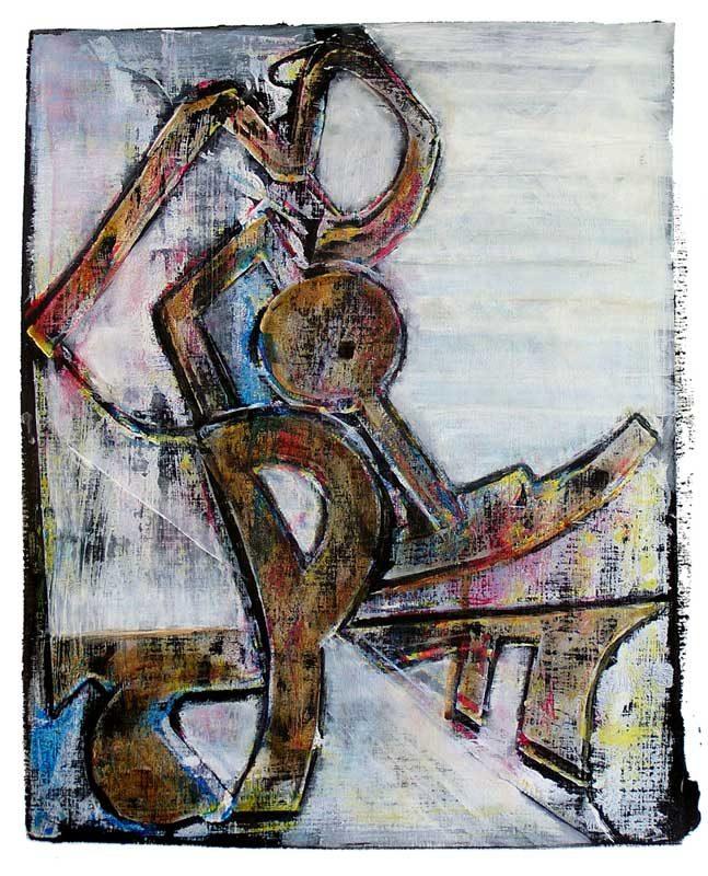 Eliane Le Roux 2008 - Machine à peindre - Monotype