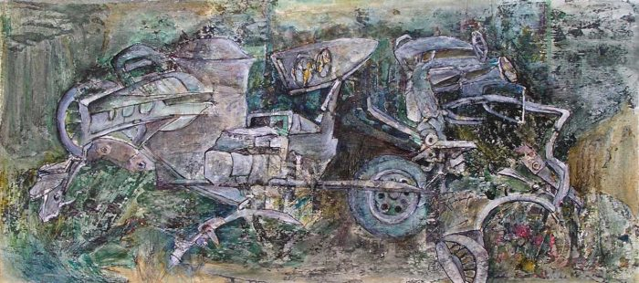 Françoise Guillemare 2008 - Machine à peindre - Dessin et peinture acrylique sur transferts (II)