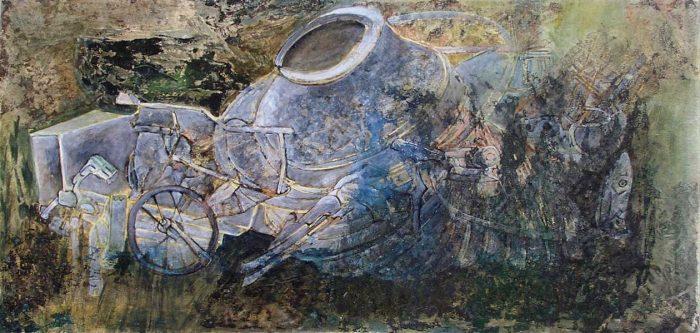 Françoise Guillemare 2008 - Machine à peindre - Dessin et peinture acrylique sur transferts (I)